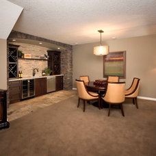 Traditional Basement by Albi Homes