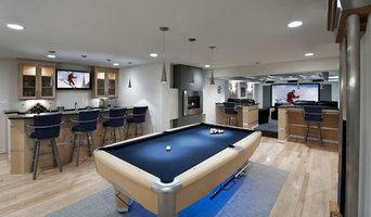 Ashburn Contemporary Basement - Pool Area & Bar