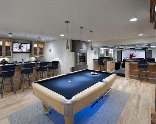 10k contemporary basement design ideas remodel pictures houzz - Basement Design Ideas Pictures