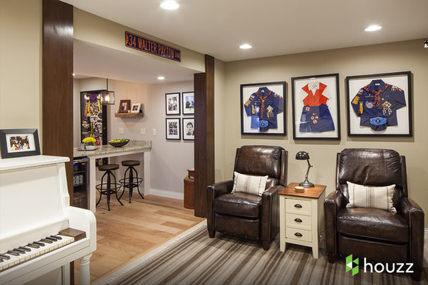 Houzz Tv Ashton Kutcher Surprises Mom With The Basement Of Her Dreams