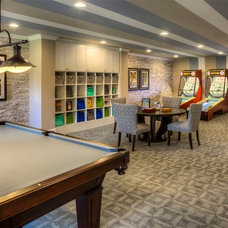 Contemporary Basement by Ashton Woods Atlanta