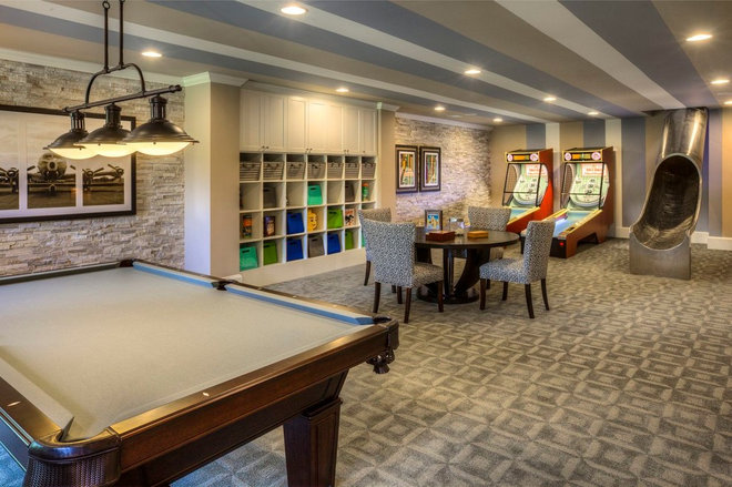 Contemporary Basement by Ashton Woods