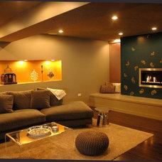Asian Basement by Priti Tripathi Architects, Inc.