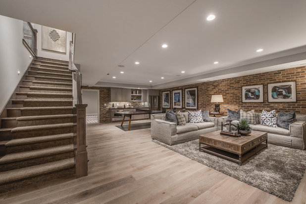 Traditional Basement by Walker Home Design