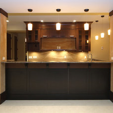 Contemporary Basement by A Collaborative Design Group
