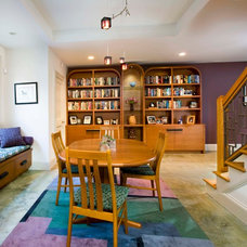 Modern Basement by Small Carpenters At Large, Inc.