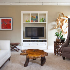 Transitional Basement by Robin LaMonte/Rooms Revamped