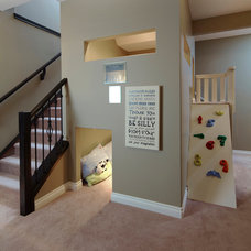 Traditional Basement by WestView Builders