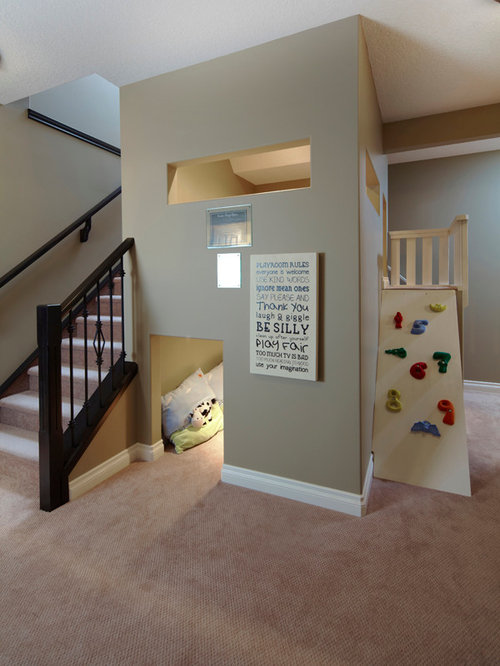 under stairs playroom houzz. Black Bedroom Furniture Sets. Home Design Ideas