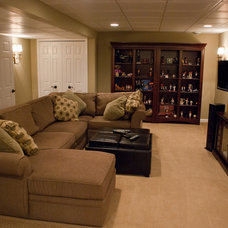 Traditional Basement by Erinteriors