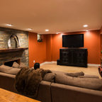 Denver Residence Rustic Basement Denver By