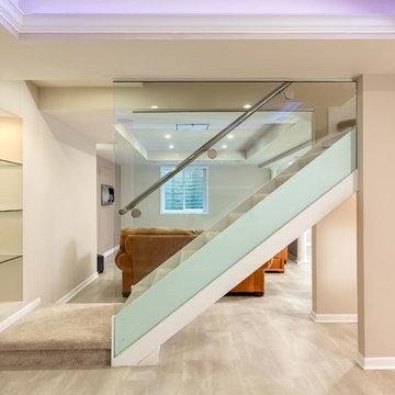 Bangert Lane Basement Modern Stairs