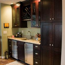 Transitional Basement by Mauk Cabinets by Design