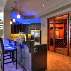 Contemporary Basement by Design Evolution Enterprises Inc