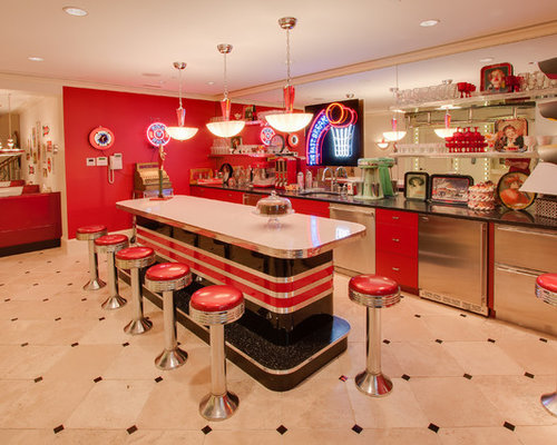 50's Diner Home Design Ideas, Pictures, Remodel and Decor