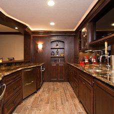Traditional Basement by Modern Design LLC