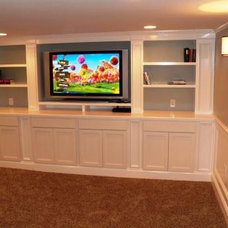 Traditional Basement by Virginia Tradition Builders LLC