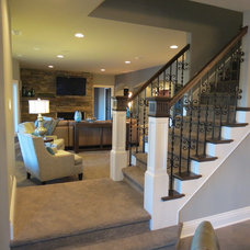 Traditional Basement by KRT Construction