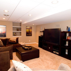 Traditional Basement by Stan Better Companies