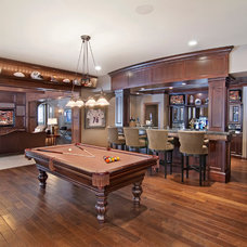 Traditional Basement by 360-Vip Photography