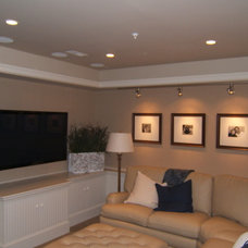 Transitional Basement by Adrian Andreassi - Case Design/Remodeling Inc.