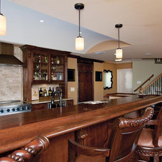 Traditional Basement by AjWDC, Aj Williams Design Company
