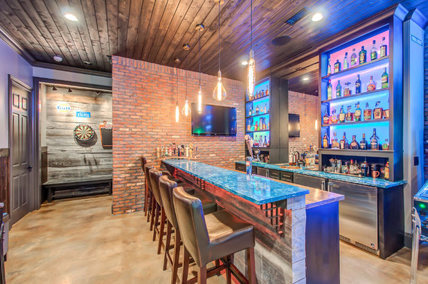 Contemporary Basement by Superior Custom Homes & Remodeling