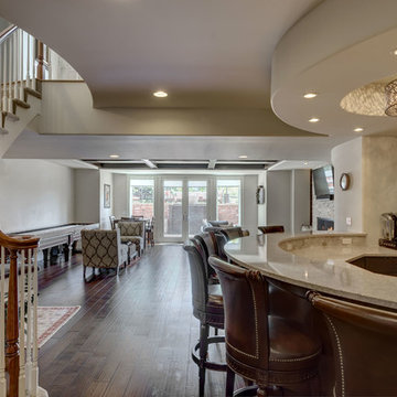 Basement Bar and Stairs