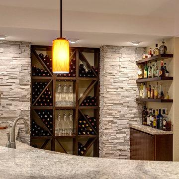 Basement Bar and Wine Rack
