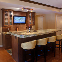 contemporary basement by Home Equity Builders