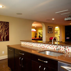 Modern Basement by Counter Dimensions