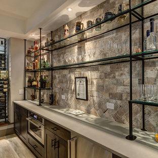 Basement Bar Shelves & Wine Rack