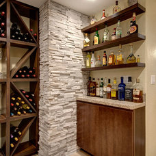 Transitional Basement by Finished Basement Company