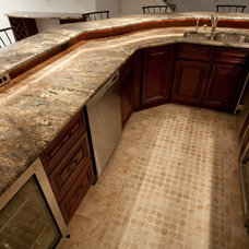 Contemporary Basement by Granite Grannies