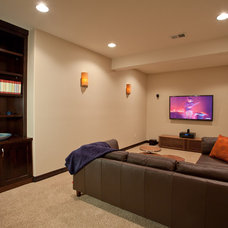 Contemporary Basement by HighCraft Builders