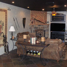 Traditional Living Room by ARNOLD Masonry and Landscape