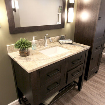 Basement Bathroom and Laundry Room ~ Wadsworth, OH