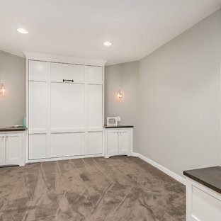 Basement Bedroom With Murphy Bed Closed