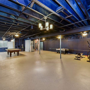 Basement Billiards and Exercise Room