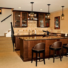 Traditional Basement by CASE Design/Remodeling Birmingham