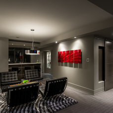 Contemporary Basement Basement Brewery / Bar / Home Theater