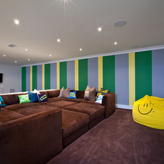 contemporary basement by Melanie Morris Design