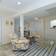 Traditional Basement by Case Design/Remodeling, Inc.