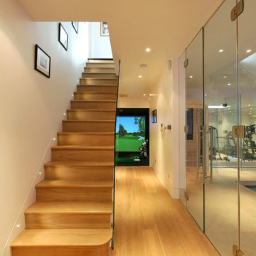 Basement conversion showing staircase to the basement leisure area