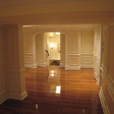 Traditional Basement by River's Edge Woodworks