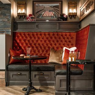 Basement Design + Build - Tufted Banquette