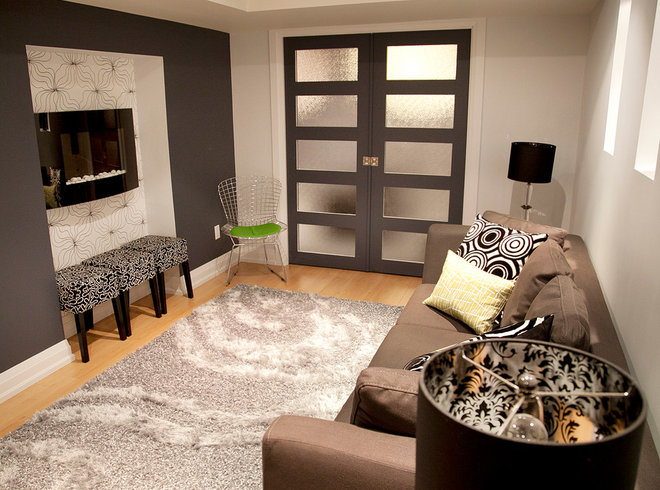 Contemporary Basement by micheal lambie interiors
