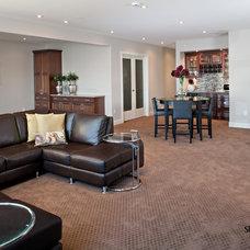 Contemporary Basement by Studio 2.0 Interior Design Consultants
