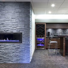 Contemporary Basement by Glenat Duxbury Interior Design