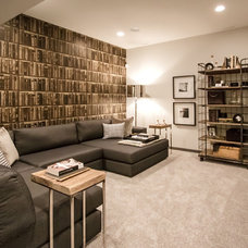 Contemporary Basement by Natalie Fuglestveit Interior Design